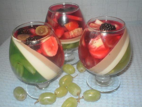 Рецепт фруктового желе с фруктами